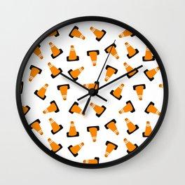 traffic cones Wall Clock