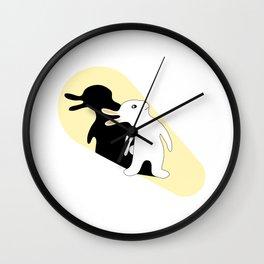 Rabbit Duck Shadow Puppet Wall Clock