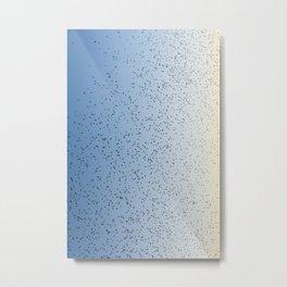 Vivid Bird Flocking Absract Metal Print