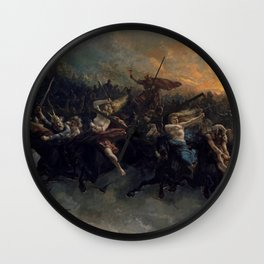 Peter Nicolai Arbo The Wild Hunt Of Odin Restored Wall Clock