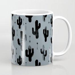 Cactus Desert Night Blue monochrome winter stone Pattern Design Kids Boys Coffee Mug