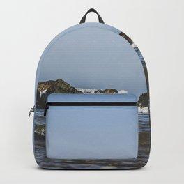 Seascape rocks and waves in Cap Gris-Nez, France / Fine art sea print Backpack