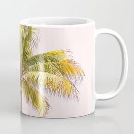 Palm Tree Photography   Pink Sunrise   Summer Vibes   Landscape   Nature   Beach Coffee Mug