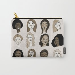 Women faces in sepia palette Carry-All Pouch