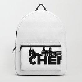 Chemnitz Germany Skyline Gift Idea Backpack