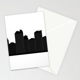city skyline Stationery Cards