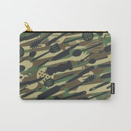 Chef Cooking Kitchen Cook Camo WOODLAND Carry-All Pouch
