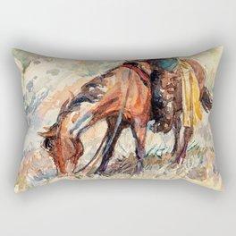 The Cow-puncher - William Herbert Dunton Rectangular Pillow