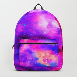 Mystical Starry Space Nebulous - Watercolor Galaxy Painting Backpack