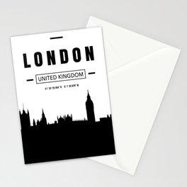 London Skyline Minimalist Cityscape Stationery Cards