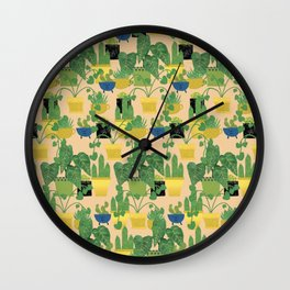 House Plants In A Row Wall Clock