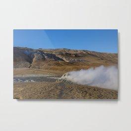 Namafjall geothermal Iceland Metal Print