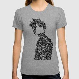 Kanji Calligraphy Art :man's face T-shirt