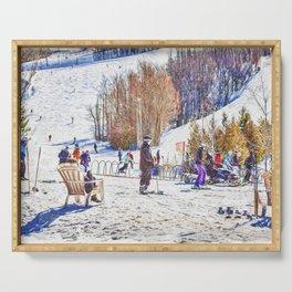 Blue Mountain Winter Ski Break Collingwood Serving Tray