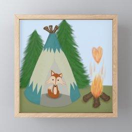 The Lone Fox Framed Mini Art Print
