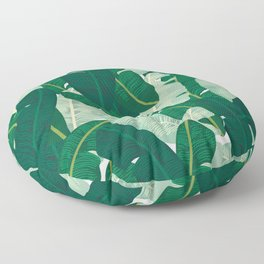 Classic Banana Leaves in Palm Springs Green Floor Pillow