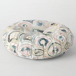 Art Deco Marble Tiles in Soft Pastels Floor Pillow