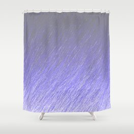 Funky Pastel Blue Shower Curtain