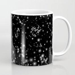 Black Galaxy Constellation Star Pattern Coffee Mug