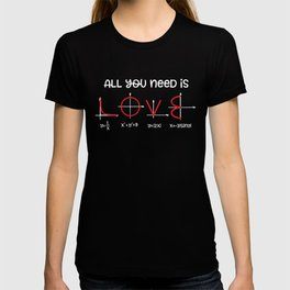 All you need is love for math teacher T-shirt