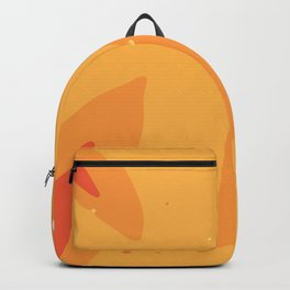 Abstract Modern Contemporary Monochromatic Background in Bright Orange Color GC-118-12 Backpack
