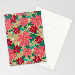 FLORAL HIBISCUS - MINT Stationery Cards