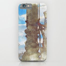 Venezia Navy Marine hoist a flag - SKETCH iPhone Case