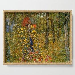 """Gustav Klimt """"Farm Garden with Crucifix """" Serving Tray"""