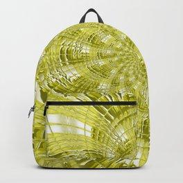 Neon Green Floral Flower Backpack