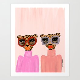 Two Cheetahs Art Print