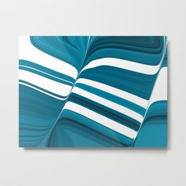 Striped of Buttery Blues Metal Print