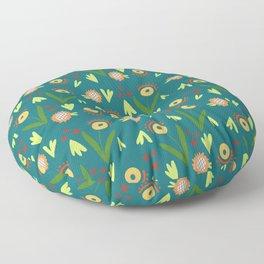 Modern Organic Floral Pattern // Hand-drawn Illustration Floor Pillow
