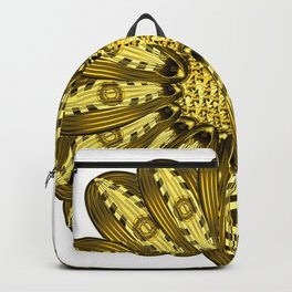 """""""Gold"""" Gazania Flower Special Edition 2 (Clear Back) Backpack"""