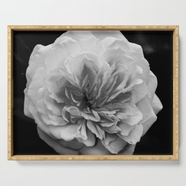 Alchymist Rose Black & White Nature / Floral Photograph Serving Tray