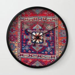 Kurdish Malatya East Anatolian Rug Print Wall Clock