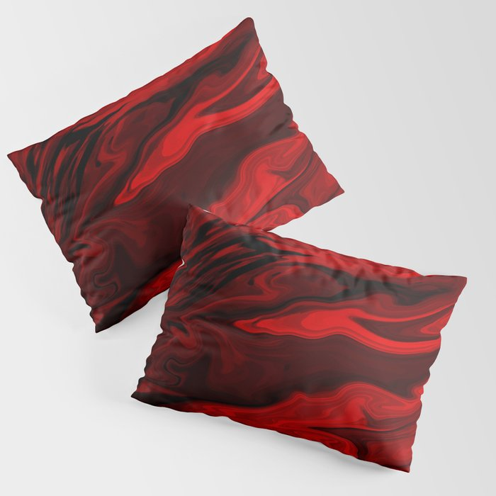 Blood Red Marble Kissenbezug