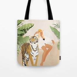The Lady and the Tiger Tote Bag