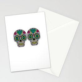 Day Of The Dead Sugar Skulls Bra Funny Calavera Mexican Culture Celebration Pun Gift Stationery Cards