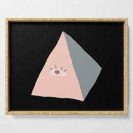 Modern Evil Eye Triangle Symbol  Serving Tray