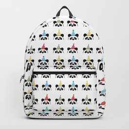 Party Panda Party Hats Pattern Design Backpack
