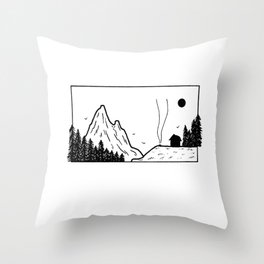 Petit campement Throw Pillow
