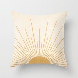 Sun #5 Yellow Throw Pillow