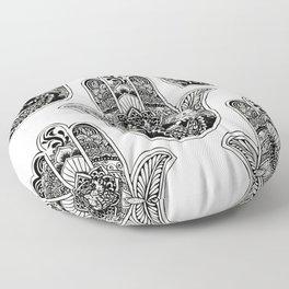 Hamsa Hand Otter Floor Pillow
