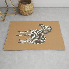 Trendy Zebra Flat Design  Rug