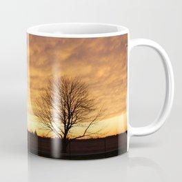 Sunset with 2 Trees Coffee Mug