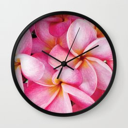 Vintage Hawaiian Plumeria  Wall Clock