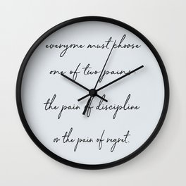 the two pains. Wall Clock