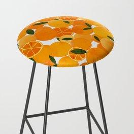 mediterranean oranges still life  Bar Stool