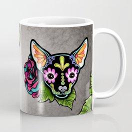 Chihuahua in Black - Day of the Dead Sugar Skull Dog Coffee Mug