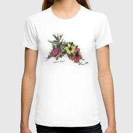 Tropical Flowers Colour T-shirt